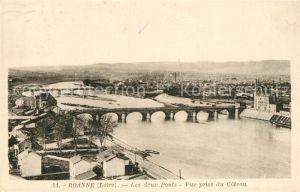AK / Ansichtskarte Roanne_Loire Ponts Vue prise du Coteau Roanne Loire