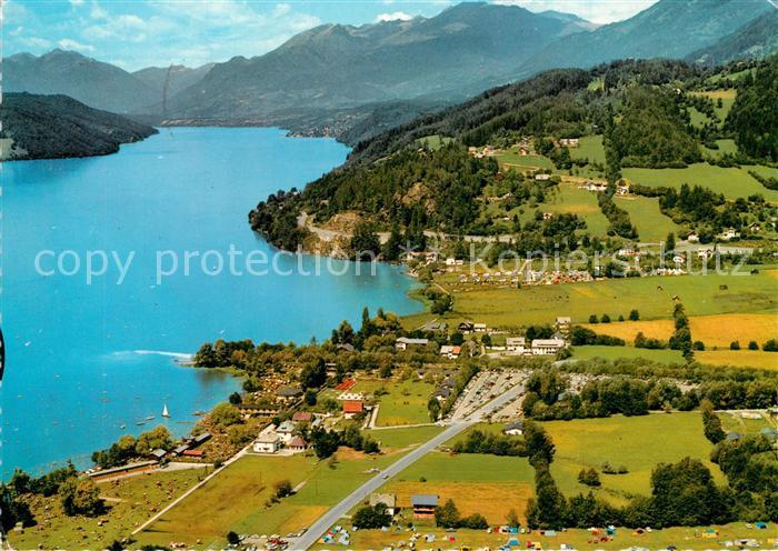 AK / Ansichtskarte Doebriach_Millstaettersee Alpenpanorama Fliegeraufnahme Doebriach_Millstaettersee