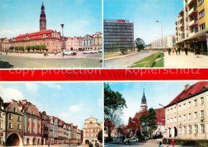 AK / Ansichtskarte Boleslawiec_Bunzlau Ratusz Ulica Adama Asnyka Zabytkowe kamieniczki w Rynku Plac Armii Czerwonej Boleslawiec_Bunzlau