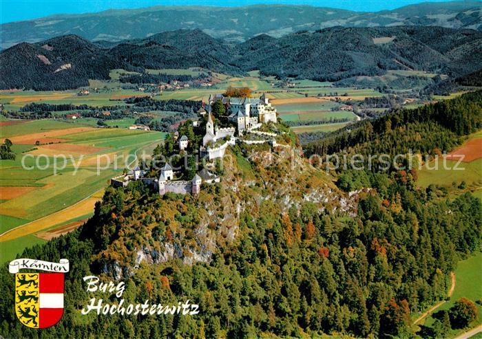 AK / Ansichtskarte Hochosterwitz_Burg mit Saualpe Fliegeraufnahme Hochosterwitz_Burg