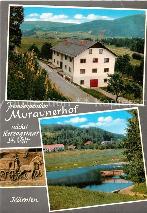 AK / Ansichtskarte St_Veit_Glan Pension Muraunerhof Badeteich St_Veit_Glan