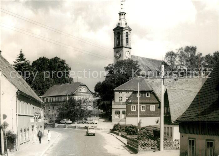 AK / Ansichtskarte Sohland_Spree Ortspartie Kirche Sohland_Spree
