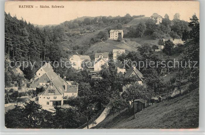 AK / Ansichtskarte Rathen_Saechsische Schweiz Teilansicht Rathen Saechsische Schweiz