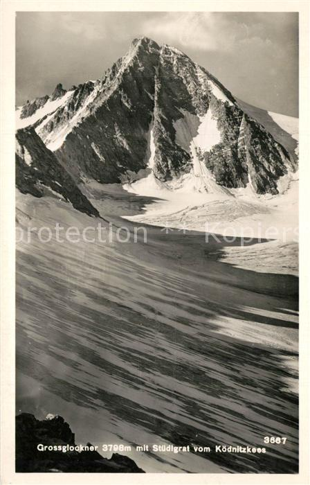 AK / Ansichtskarte Grossglockner mit Stuedigrat vom Koednitzkees Grossglockner