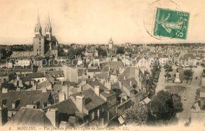 AK / Ansichtskarte Moulins_Allier Vue generale prise de l'Eglise du Sacre Coeur Moulins Allier