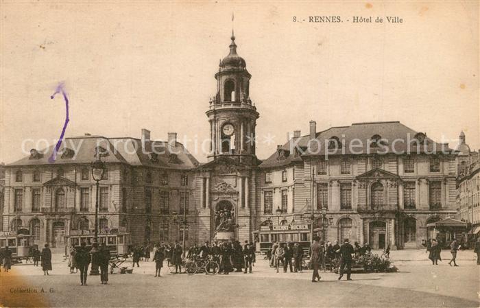AK / Ansichtskarte Rennes_Ille et Vilaine Hotel de Ville