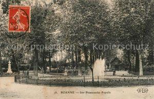 AK / Ansichtskarte Roanne_Loire Les Promenades Populle Roanne Loire