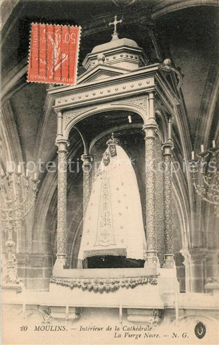 AK / Ansichtskarte Moulins_Allier Interieur de la Cathedrale La Vierge Noire Moulins Allier