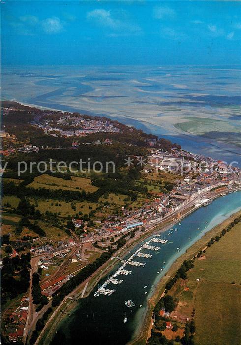 Saint Valery sur Somme Port de plaisance et la Baie de Somme vue aerienne Saint Valery sur Somme