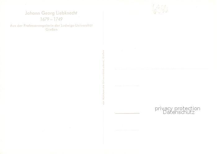 AK / Ansichtskarte Pers?nlichkeiten Johann Georg Liebknecht   1