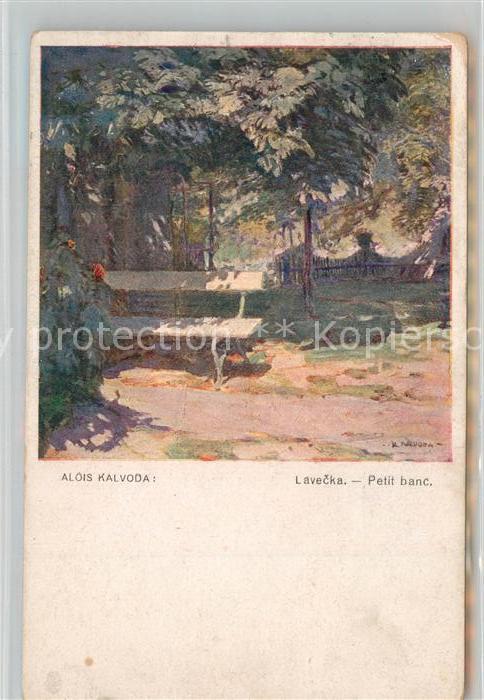 AK / Ansichtskarte K?nstlerkarte Alois Kalvoda Lavecka Petit Banc   0