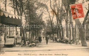 AK / Ansichtskarte Tours_Indre et Loire Marche aux Fleurs Boulevard Beranger Tours Indre et Loire