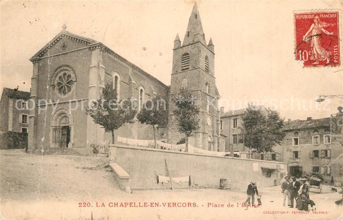 AK / Ansichtskarte La_Chapelle en Vercors Place de l Eglise La_Chapelle en Vercors 0