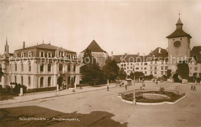 AK / Ansichtskarte Solothurn Amthausplatz Solothurn 0