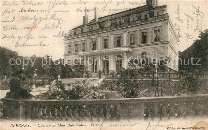 AK / Ansichtskarte Epernay_Marne Chateau de Mme Auban Moet Schloss Epernay Marne 0