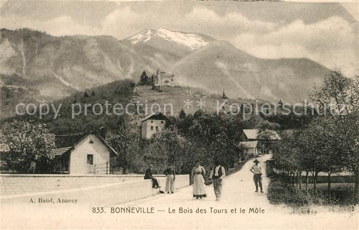 AK / Ansichtskarte Bonneville_Haute Savoie Le Bois des Tours et le Mole Alpes Bonneville_Haute Savoie
