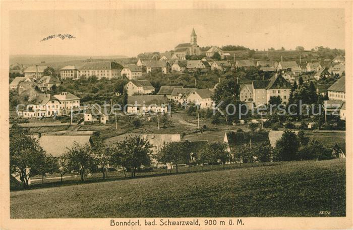 AK / Ansichtskarte Bonndorf_Schwarzwald Gesamtansicht Bonndorf Schwarzwald 0