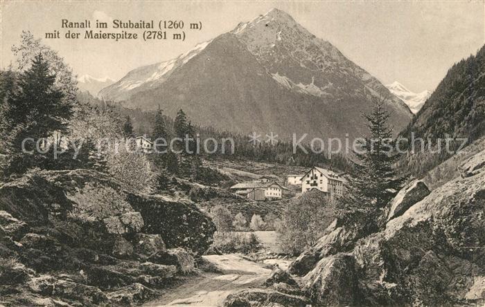 AK / Ansichtskarte Ranalt Landschaftspanorama mit Maierspitze Staubaier Alpen Ranalt 0
