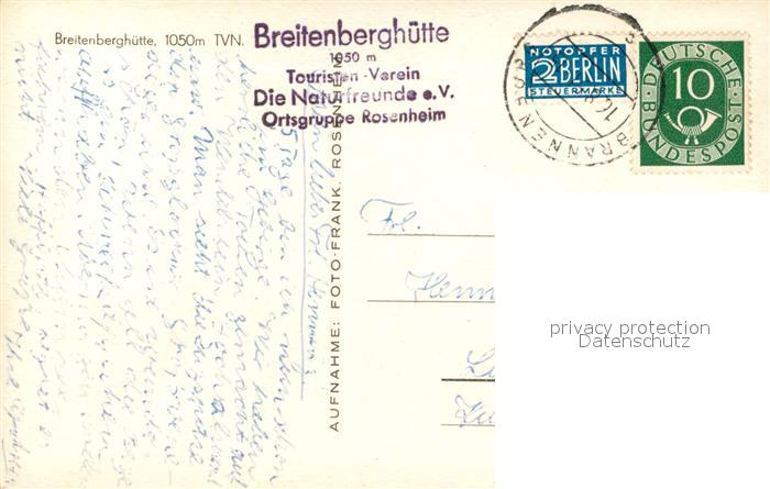 AK / Ansichtskarte Brannenburg Breitenberghuette Naturfreundehaus Brannenburg 1