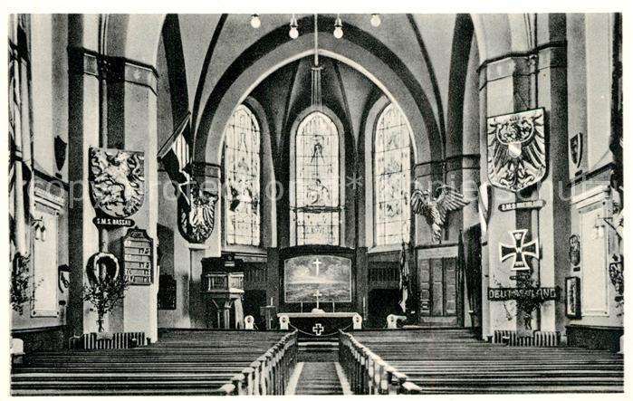 AK / Ansichtskarte Wilhelmshaven Inneres der Marine Gedaechtnis Kirche Christuskirche Ehrenschmuck Kaiserliche Marine Wilhelmshaven 0