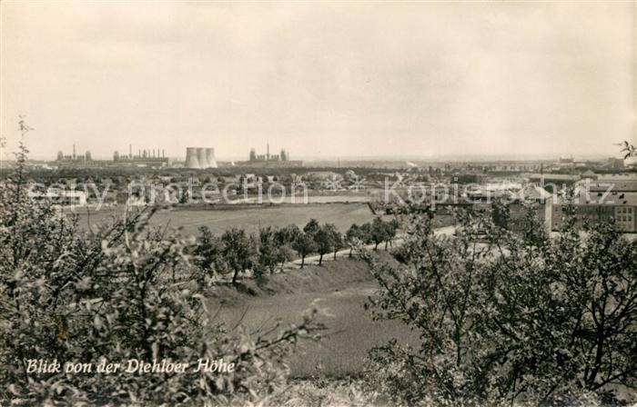 AK / Ansichtskarte Stalinstadt Panorama Blick von Diehloer Hoehe Kraftwerke Stalinstadt 0