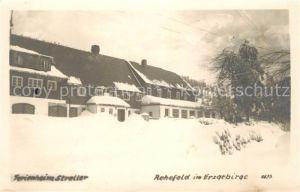 AK / Ansichtskarte Rehefeld Zaunhaus Ferienheim Streller im Winter Rehefeld Zaunhaus