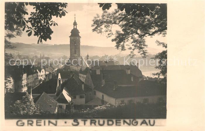 AK / Ansichtskarte Grein_Donau_Oberoesterreich Ortsansicht mit Kirche Grein_Donau 0