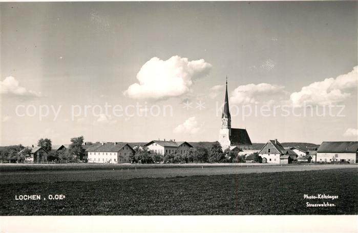 AK / Ansichtskarte Lochen_Oberoesterreich Ortsansicht mit Kirche Lochen_Oberoesterreich 0