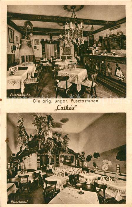 AK / Ansichtskarte Berlin Ungarisches Restaurant Pusztastube Czikos Berlin 0