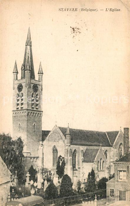 AK / Ansichtskarte Stavele Eglise Kirche Stavele 0
