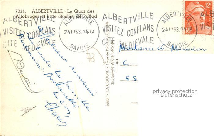 AK / Ansichtskarte Albertville_Savoie Quai des Allobroges Clocher de Pallud Albertville_Savoie 1