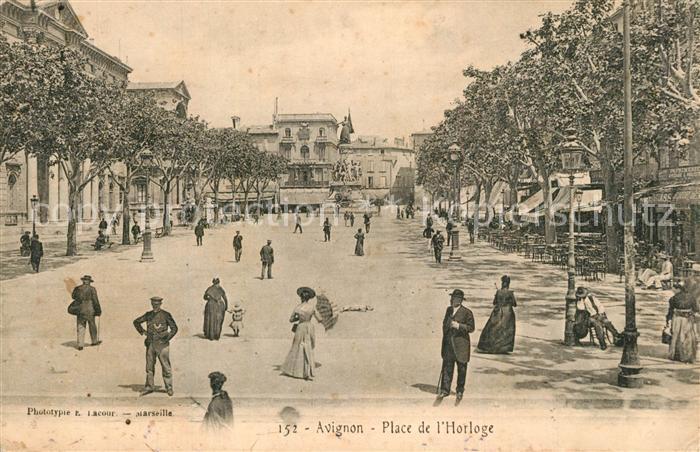 AK / Ansichtskarte Avignon_Vaucluse Place de l Horloge Avignon Vaucluse 0