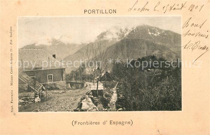 AK / Ansichtskarte Bagneres de Luchon Col du Portillon Frontieres d Espagne Pyrenees Bagneres de Luchon 0