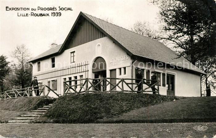 AK / Ansichtskarte Roubaix Exposition du Progres Social Pavillon des Vosges Roubaix 0