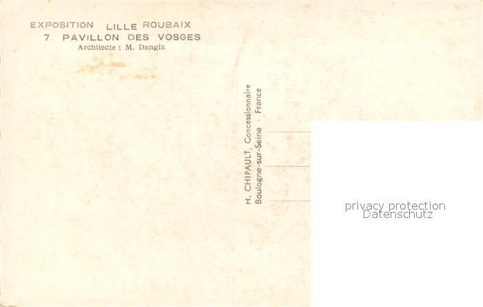 AK / Ansichtskarte Roubaix Exposition du Progres Social Pavillon des Vosges Roubaix 1