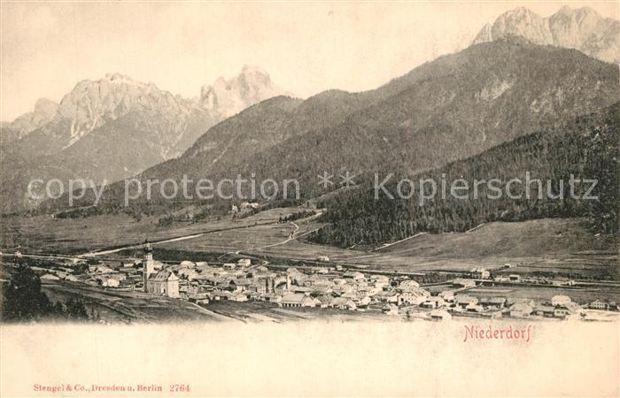 AK / Ansichtskarte Niederdorf_Villabassa Panorama Alpen Niederdorf_Villabassa 0