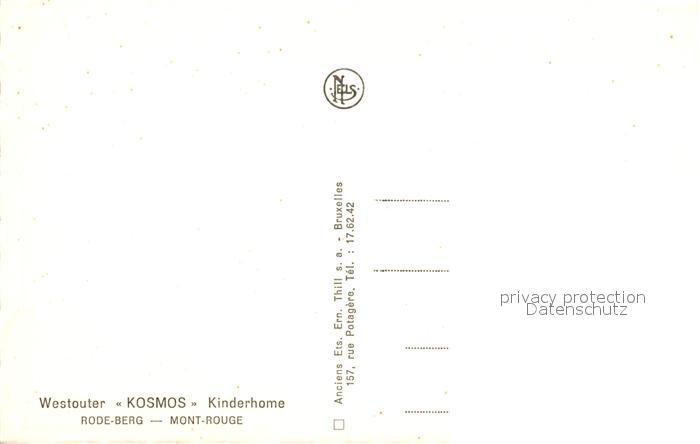 AK / Ansichtskarte Rode_Berg Westouter Kosmos Kinderhome Rode_Berg 1