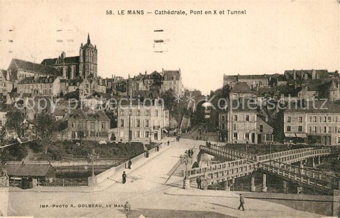 AK / Ansichtskarte Le_Mans_Sarthe Cathedrale Pont en X et le Pont Yssoir sur la Sarthe Le_Mans_Sarthe 0