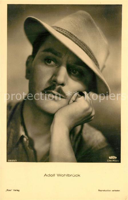 AK / Ansichtskarte Schauspieler Adolf Wohlbr?ck   0
