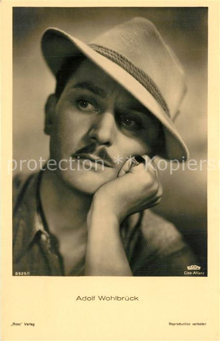 AK / Ansichtskarte Schauspieler Adolf Wohlbr?ck