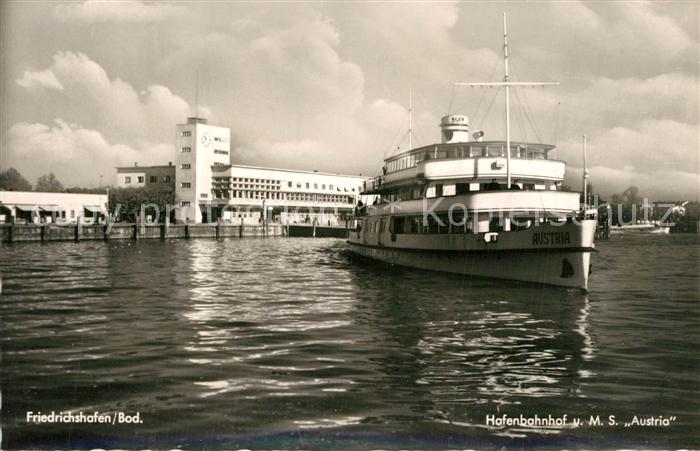 AK / Ansichtskarte Motorschiffe M.S. Austria Friedrichshafen Bodensee Hafenbahnhof   0