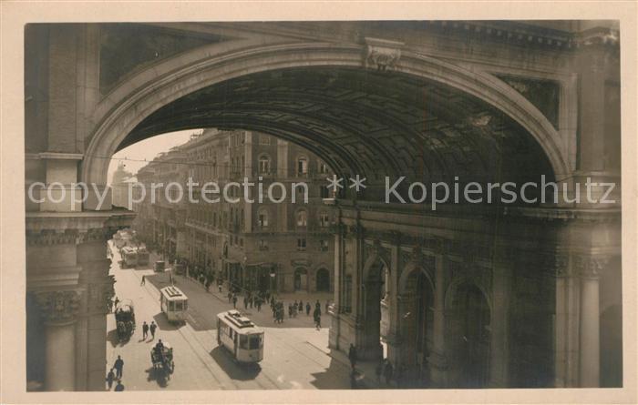 AK / Ansichtskarte Strassenbahn Genova Ponte Monumentale   0