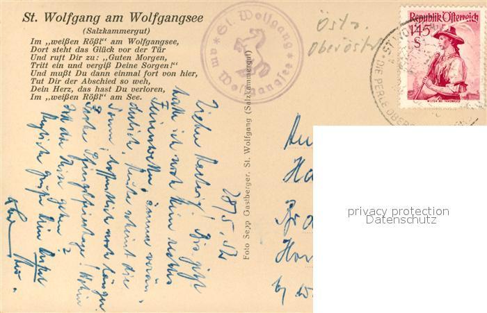 AK / Ansichtskarte Dampfer_Seitenrad St. Wolfgang am Wolfgangsee   1