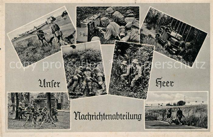 AK / Ansichtskarte Militaria_Wehrmacht Nachrichtenabteilung Militaria Wehrmacht 0