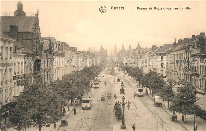 AK / Ansichtskarte Strassenbahn Anvers Avenue de Keyser
