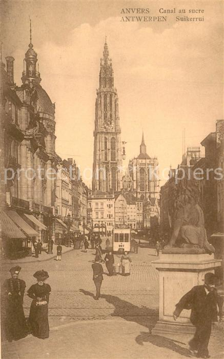 AK / Ansichtskarte Strassenbahn Anvers Canal au Sucre   0