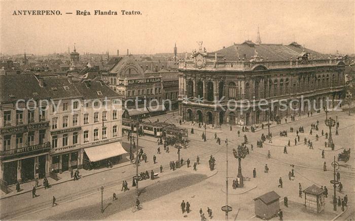 AK / Ansichtskarte Strassenbahn Antverpeno Rega Flandra Teatro Esperanto   0