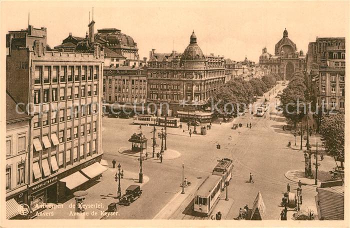 AK / Ansichtskarte Strassenbahn Anvers Avenue de Keyser   0