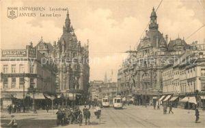 AK / Ansichtskarte Strassenbahn Anvers Rue Leys