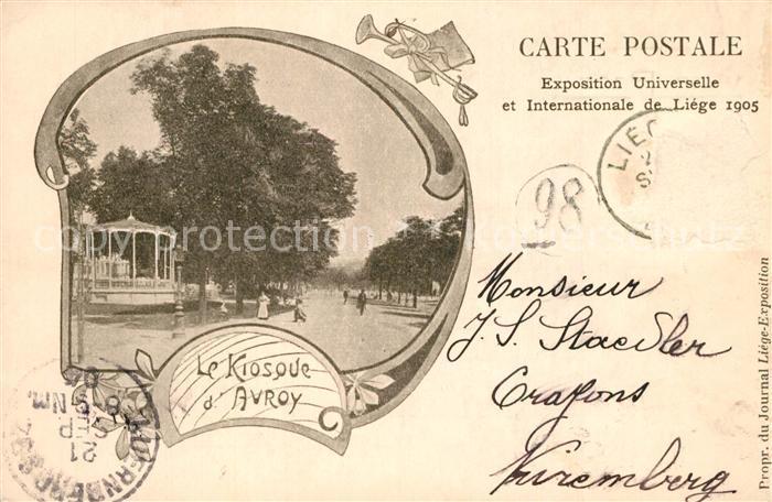 AK / Ansichtskarte Exposition_Universelle_Liege_1905 Kiosque d Avroy   0
